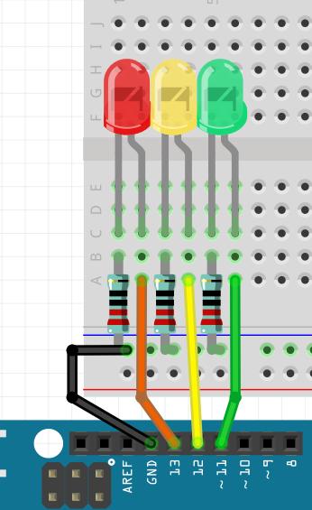 Создание светофора на базе Arduino